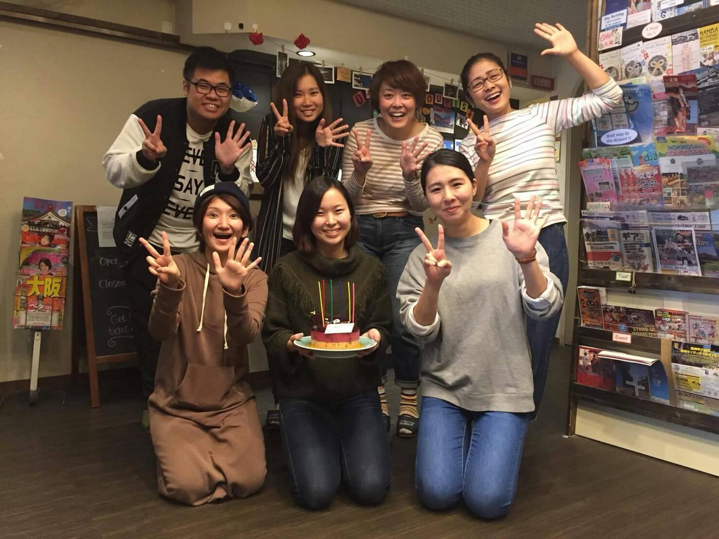 |大阪|ゲストハウス|【友だちと一緒に応募可】住込みスタッフ専用部屋だから友だちができる&街ナカだから仕事が見つけやすい♪