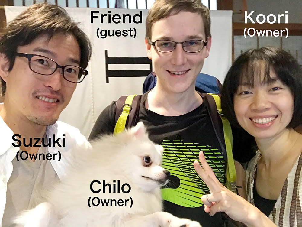 |Free Accommodation, helper|Kyoto|Homey and traditional Japanese building guesthouse running a couple with a small dog!